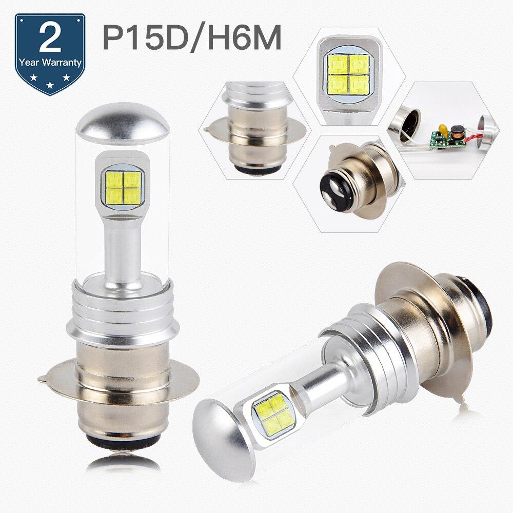 NICECNC 80W High Power LED Headlight P15D H6M Bulbs For Honda Rincon 650 TRX650FA TRX650FGA 4x4 2003-2015