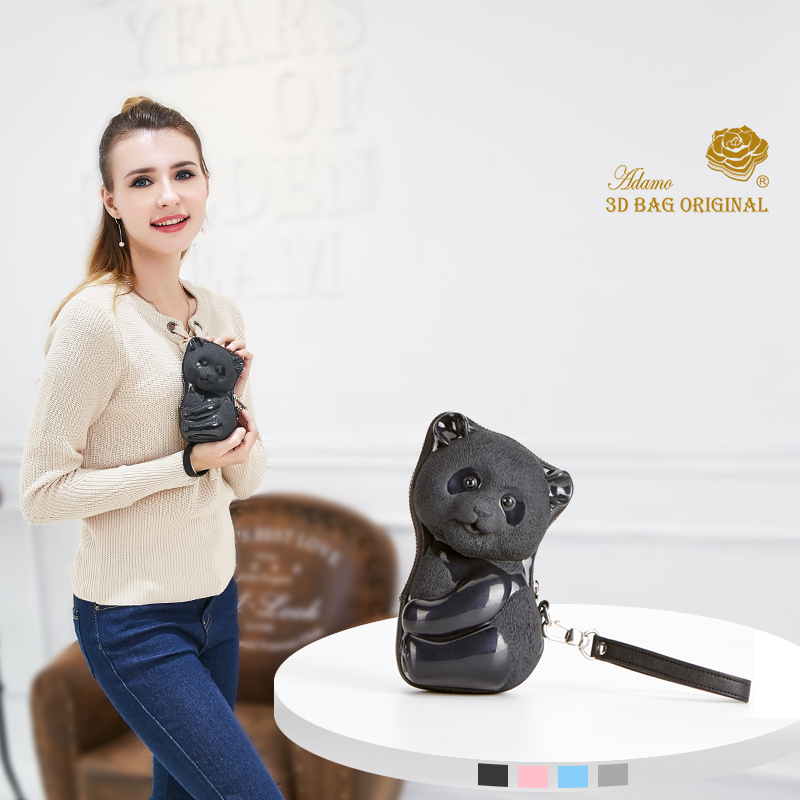 Adamo 3D sac Original Ka Ka Panda embrayage avec sangle marque de luxe femmes portefeuilles mode femme sac à main embrayage argent femmes portefeuille