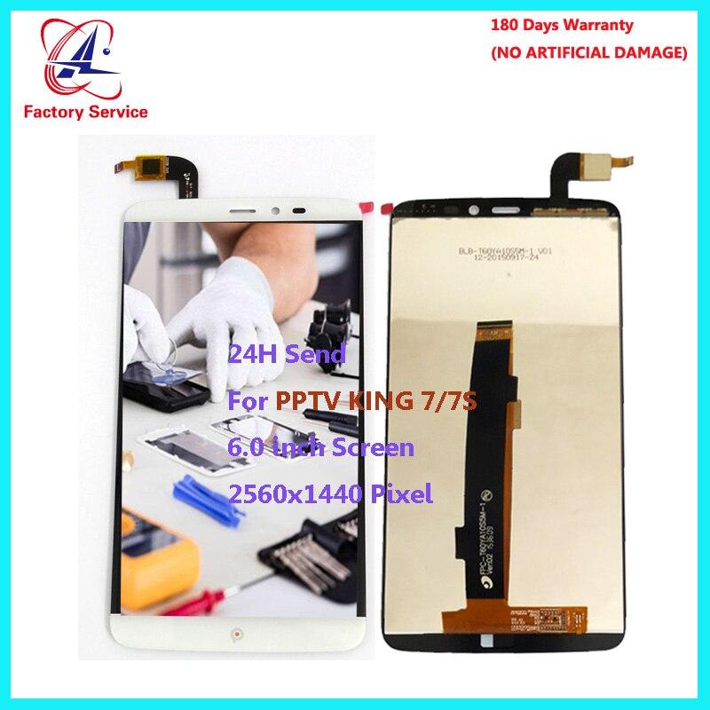 Pour D'origine PPTV ROI 7/7 S LCD Écran Affichage + Écran Tactile Digitizer Assemblée Remplacement Du Capteur 6.0 2560x1440 Pixel stock