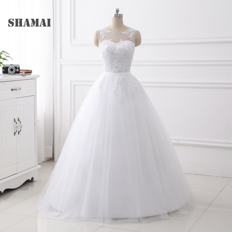SHAMAI 2019 Ball Gown Wedding Dresses Cheap Vestido De Novia Bride Dress  Real Photo In Stock 19f15fb4d38d
