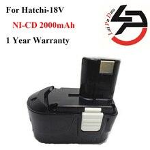 Bateria de Substituição Poder para Hitachi 2.0ah 18 V Ni-cd Ferramenta de Broca: Eb1820 Eb1812 Eb1814 Eb1826hl Eb1830h Eb1833x Eb18b 322437