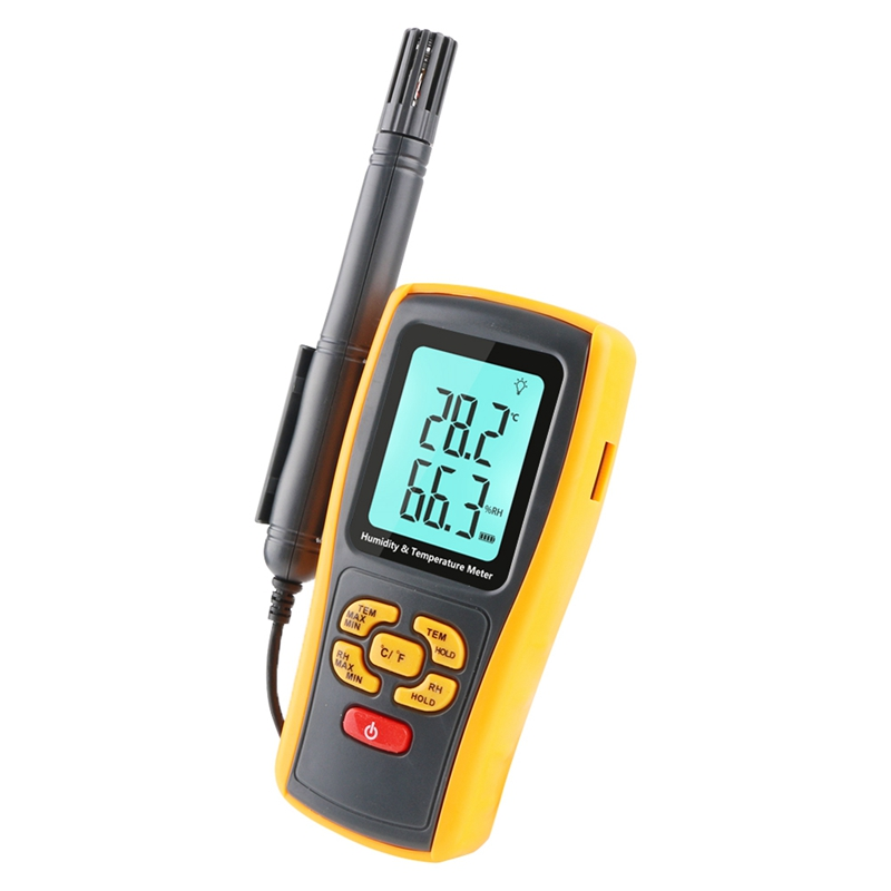 Professional Digital Industrial Thermometer Hygrometer K type Thermocouple Probe LCD Humidity Temperature Meter USB Data Logger