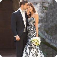 Мужские черные костюмы для жениха свадебные официальные смокинги