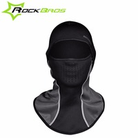 ROCKBROS Cycling Caps Neck Fleece Breathable Hat Headgear Winter Skiing Ear Windproof Warm Mask Motorcycle Bicycle