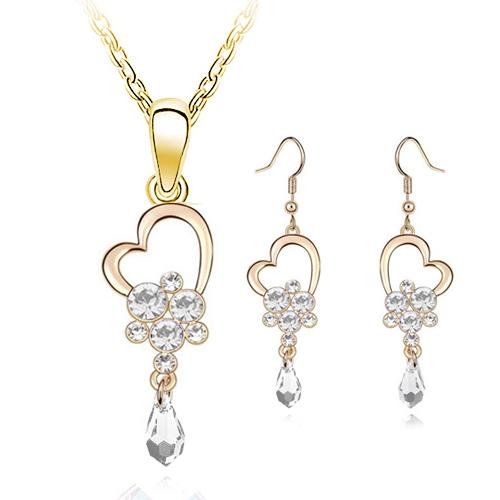 Fashion Heart Shaped Jewelry Set