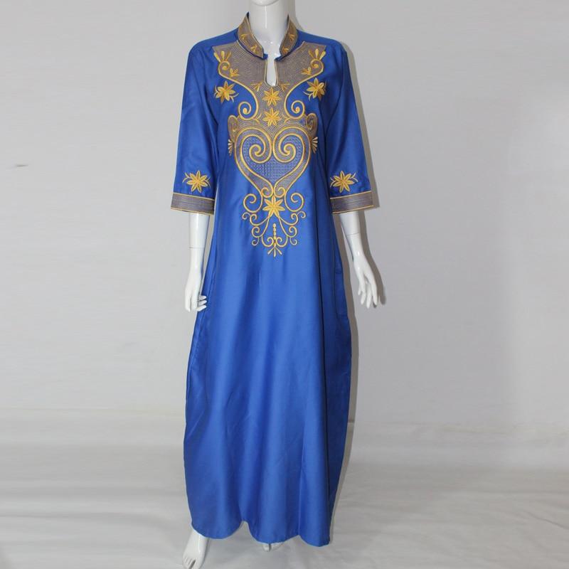 Afrikaanse jurken Nieuwe Afrikaanse vintage borduurjurk One Piece - Traditionele kleding