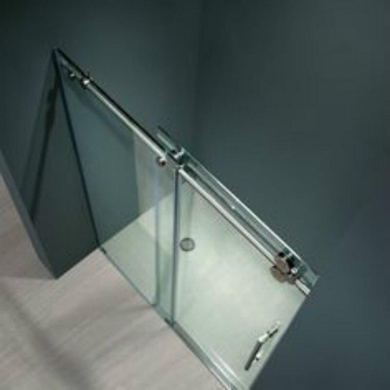 ft caminar inline sliding barn correderas de cristal sin marco puerta de la ducha de