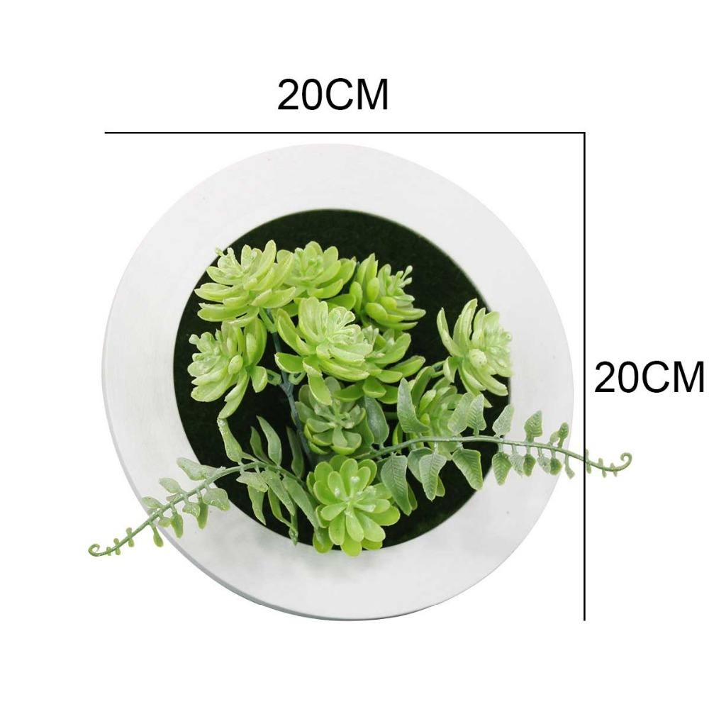 Creative 3D Artificial Succulent Plant Wall Decoration Photo Frame Metope Art Plastic Fake Plants for Hotel Home Garden Decor in Artificial Plants from Home Garden