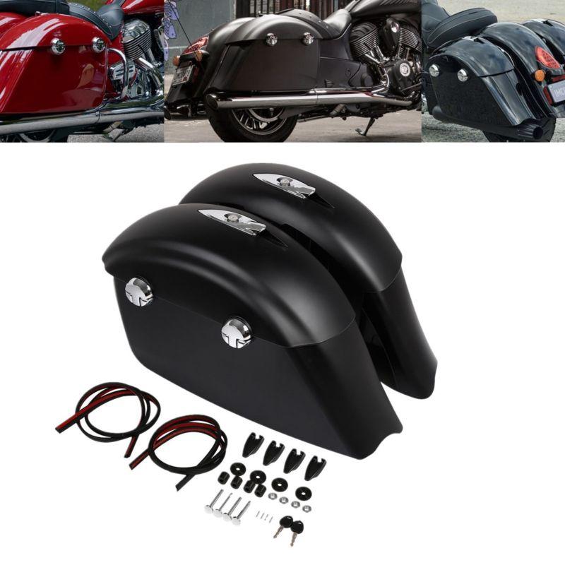 Selle Sacs Électronique Verrou Du Couvercle Fit Pour Indien Chef Foncé Cheval Roadmaster Springfield Trois Couleur moto accessoires