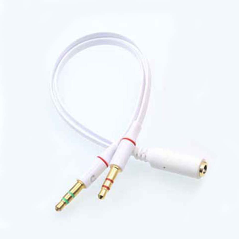 New Audio Cable 3.5mm Dual 2 Male To Female Plug Jack Stereo Audio Headset Earphone Phone To PC Mic Y Splitter Cable & ~