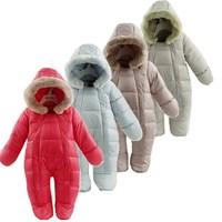 Baby Strampler Baby Thermische Ente Unten Winter Schneeanzug Baby Nette Mit Kapuze Overall Neugeborenen Jungen Mädchen Winter Kleidung Skianzug