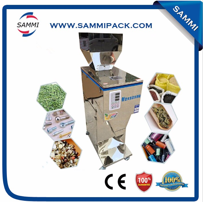 Electric driven 100 2500g semi automatic green mung bean powder filling packing machine