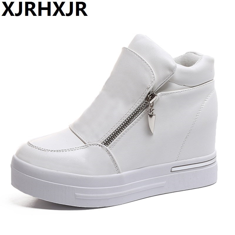 Men's Shoes Men's Casual Shoes 2019 Fashion Autumn Mens Leather Casual Shoes Snake Grain High Top Loafers Shoe For Men Male Slip On Skate Shoes 39-44 Spare No Cost At Any Cost