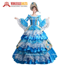 High Quality Women's Prom Gothic Victorian Fancy Palace Masquerade Dresses Theatre Halloween Costume(China)
