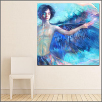 Large Size Printing Angels Young Man Abstract Art Wall Art Picture Home Decor Living Room Modern