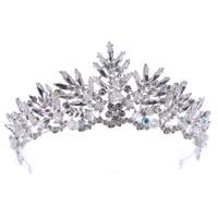 Luxury Rhinestone Tiaras Bridal Crown Headband Women Headpiece Floral Wedding Hair Accessories Crystal Bride Hair Jewelry