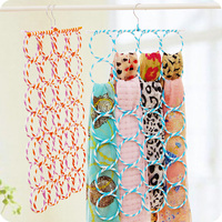 Multifunctionele sjaal multicolour rotan rack vouwen 28 cirkel zijden sjaal rack riem tie rack magische hanger