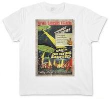 Earth Vs Flying Saucers Ii T Shirt Retro Area Ufo Fliegend 51 Sci Fi Movie
