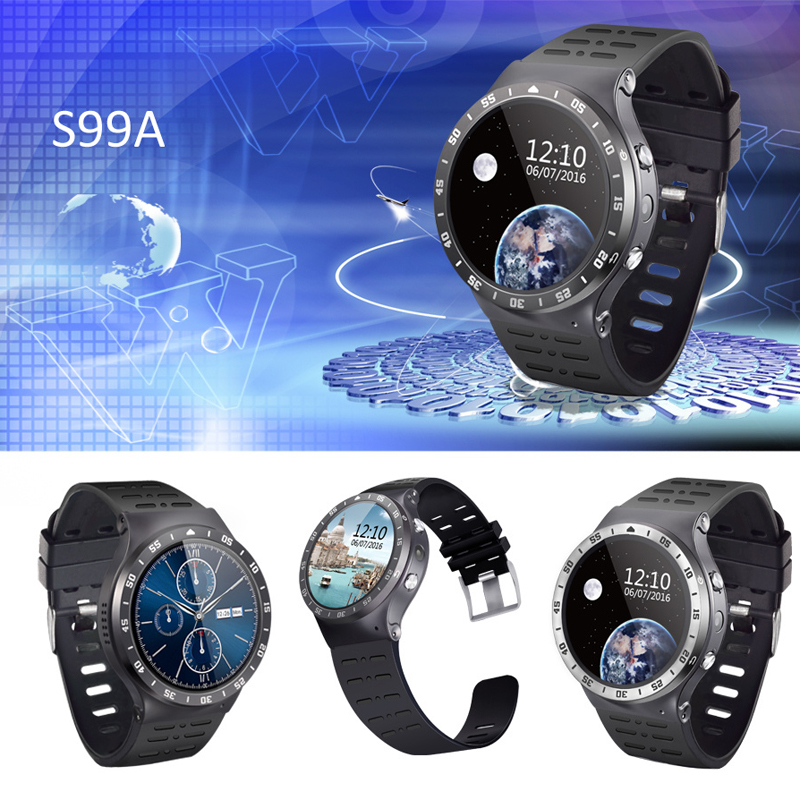 ZGPAX S99A Smart Watch Round Screen MTK6580 Android 5.1 Wristwatch Bluetooth 4.0 GPS Heart Rate Fitness Tracker Smartwatch Phone citizen bd0022 08a