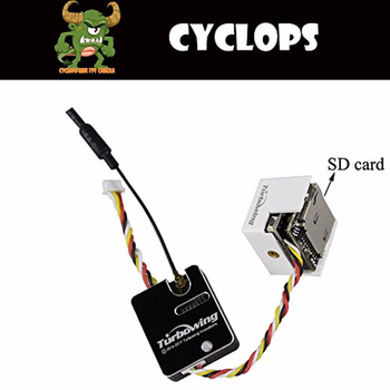 F-Cloud TURBOWING CYCLOPS 200mW 25mW Transmitter & DVR Camera, 48 Frequency, 2 Power Button Adjustable