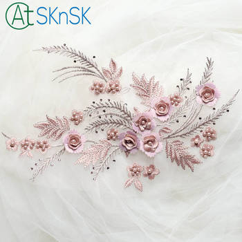 10pcs high grade DIY sewing handmade accessories wedding decoration color beads 3D flower diamond emboridery patches for clothes