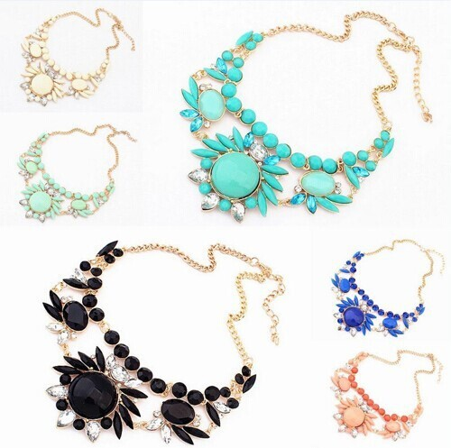 Ahmed Fashion Jewelry Statement 2018 Women Necklaces Colorful Gem Flower Necklace Woman Pop Christmas Gift Necklaces & Pendants
