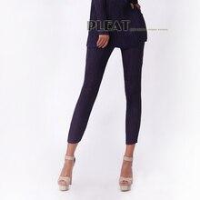 pleated thin soft elastic slim legging pants series mercerizing pencil pants  free shipping