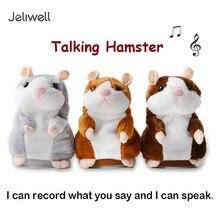 Jeriwell записывающие говорящие игрушки Хомяк Мышь панда ходьба кивая домашнее животное диктофон Повторите плюшевое чучело игрушка подарок для ребенка