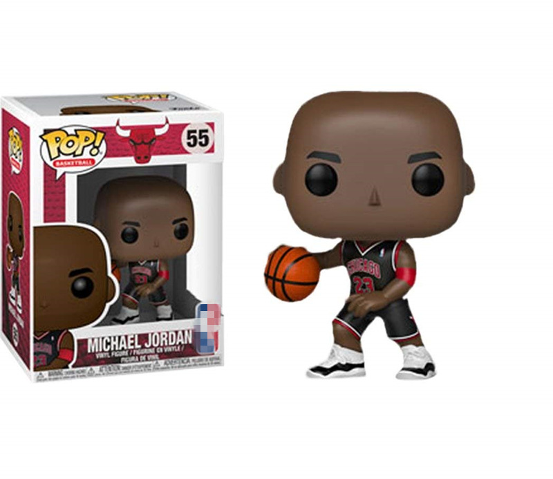 Exclusive Official Funko pop Sports: Basketball Player Jordan (Black Jersey) #55 Vinyl Action Figure Collectible Model Toy