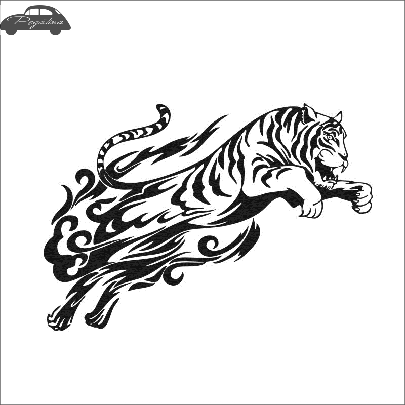 Pegatina Jaguars Sticker Tiger Decal Hollow Sticker Car Window Vinyl