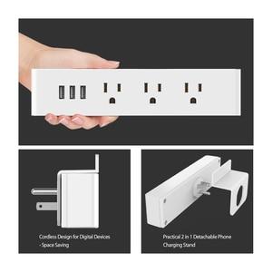 Image 3 - NTONPOWER MNC Treo Tường Nguồn USB Ổ Cắm Tiêu Chuẩn MỸ Cắm Điện 3 Ổ Cắm Điện 3 CỔNG USB Cổng Sạc Thông Minh với giá Đỡ điện thoại