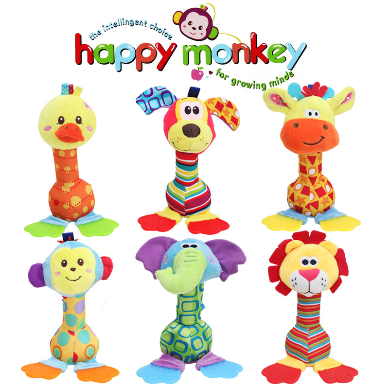 Wholesale Baby Toys : Cm wholesale rattles baby plush toy soft hand bell with