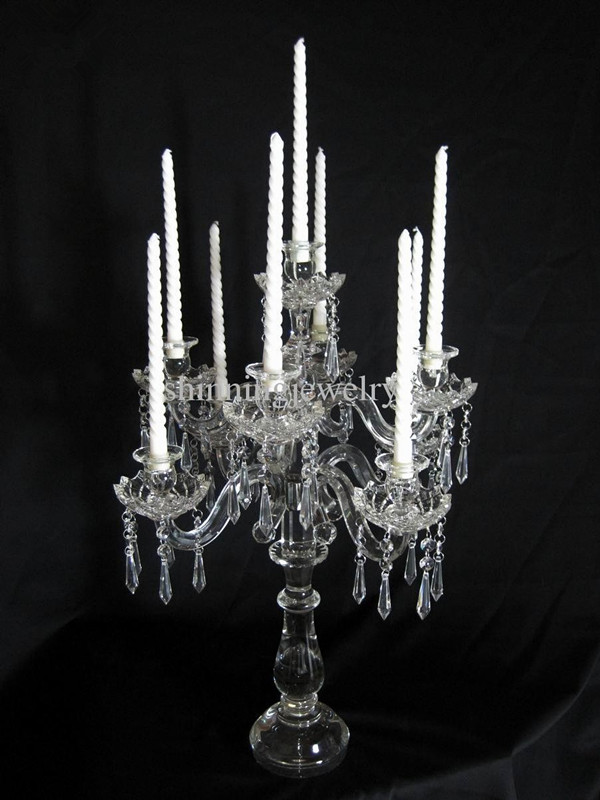 Quot crystal glass candelabra centerpieces arms tall