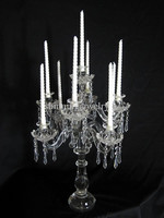 26.37crystal glass candelabra centerpieces 9 arms tall crystal candle holder
