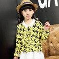 Kids girls dress spring long sleeved cotton children 2017 years new children dress princess