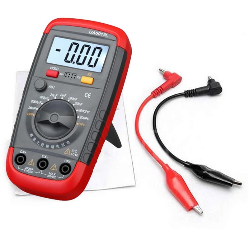 Car Accessorie New Arrival Ua6013l Auto Range Digital Lcd Capacitor Capacitance Tester Meter Electrical Multimeter Measurement In Multimeters Yzers