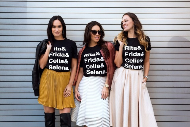 40586b33a Rita&Frida&Celia&Selena fashion graphic Tees top cotton clothing tumblr  Tshirt women Unisex crewneck T-shirt t