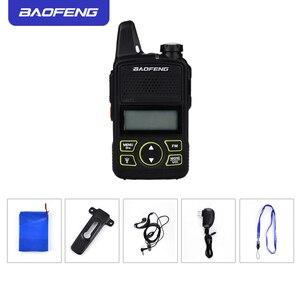 Image 5 - 2PCS Baofeng bf t1 מכשיר קשר מיני ילדים רדיו uhf נייד שתי בדרך רדיו חם CB רדיו USB מטען ייחודי מעורר כפתור