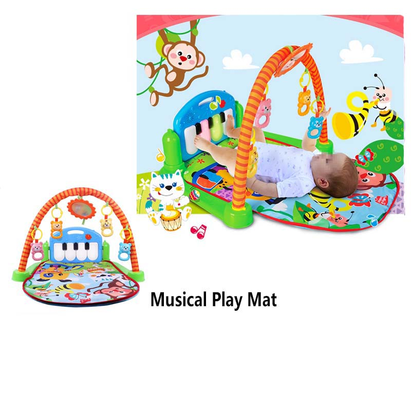 Rainforest Musical Lullaby Baby Play Activity Playmat Gym 3 In 1 Toy Soft Play Mat Baby Infant Fitness Carpet Educational Toys huile toys 2105 baby toys 5 in 1 play gym baby toy play mat