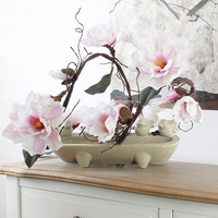 Artificial Magnolia Silk Fake Flower Branch Fleur Artificielle Flores Arrange Table Wedding Home Decor Party Accessory