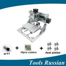 Sólo Rusia! CNC1610 ER11, mini cnc máquina de grabado láser, Pcb Milling Machine, máquina de Talla De Madera del cnc, cnc router, cnc 1610, juguete de regalo