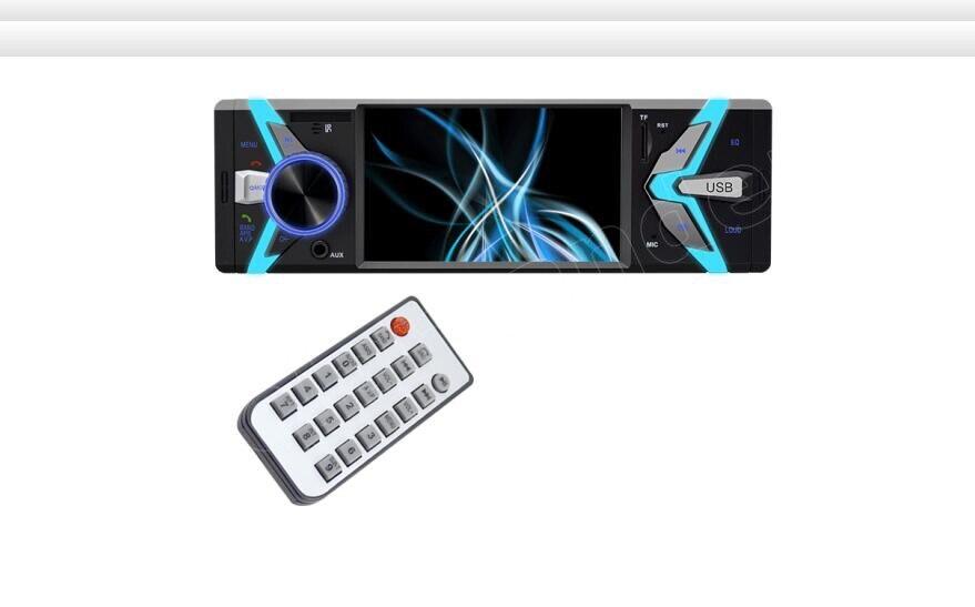 Autoradio 1 Din 4 pouces Auto USB TF FM MP4 MP5 FM radio lecteur de voiture Bluetooth mains libres 12 V deux sorties vidéo de haute qualité