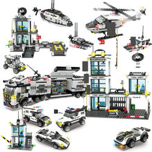 City Police SWAT Truck Building Blocks Sets Ship Helicopter Vehicle LegoINGLs Playmobil DIY Bricks Educational Toys for Children(China)