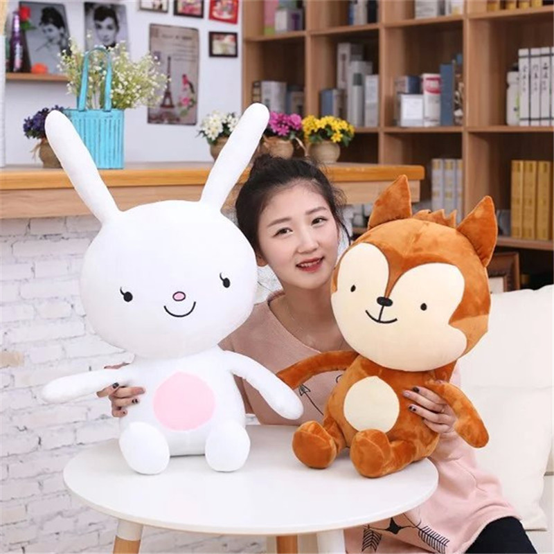 30CM One Piece Baby High Quality Lovely TV Animal Wolf&Rabbit Super Soft PP Cotton Stuffed Plush Dolls Kids Toys Friends Present