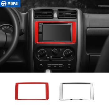 MOPAI ABS Car GPS DVD Dashboard Panel Navigation Decoration Frame Cover Stickers for Suzuki Jimny 2011 Up Car Accessories image