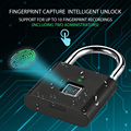 USB Rechargeable Smart Keyless Electronic Fingerprint Lock Home Anti-theft Safety Security padlock Door Luggage Case lock