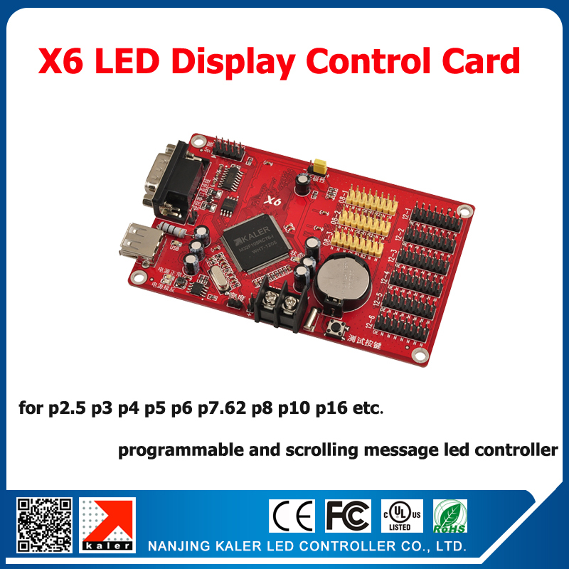 Free ship X6 led sign controller support 14 operation language full color outdoor indoor advertising display screen control cardFree ship X6 led sign controller support 14 operation language full color outdoor indoor advertising display screen control card