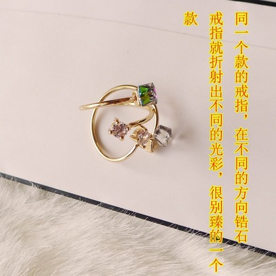 Valentine 39 s day gifts colorful rose gold ring ms zircon ring han edition tide restoring ancient ways of people in Rings from Jewelry amp Accessories