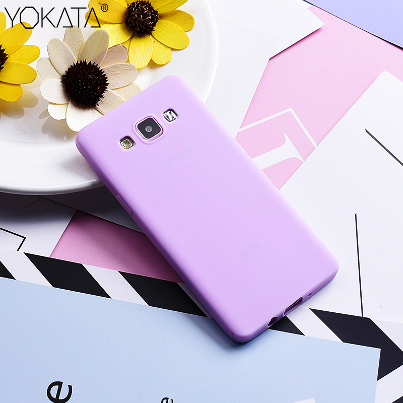 Funda para Samsung Galaxy A3 A5 A7 Lovely Candy Color Soft TPU Funda de gel de silicona para Samsung S8 S9 plus S7 edge Note 8 9