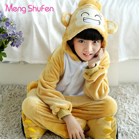 Mengshufen Pajamas Set Kids Monkey Sleepwear Set Flannel Animal Winter Children Girls Boys Unsiex Pyjamas Cartoon